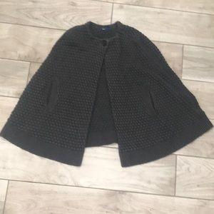 Gap gray sweater cape size 10